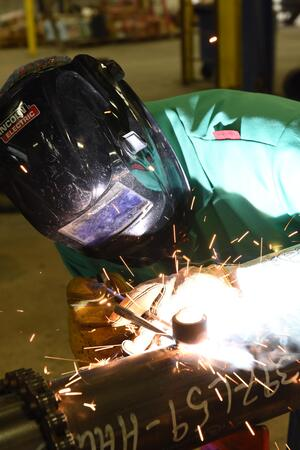 At some participating bases, he UA VIP Program trains transitioning active-duty military service members welding skills.