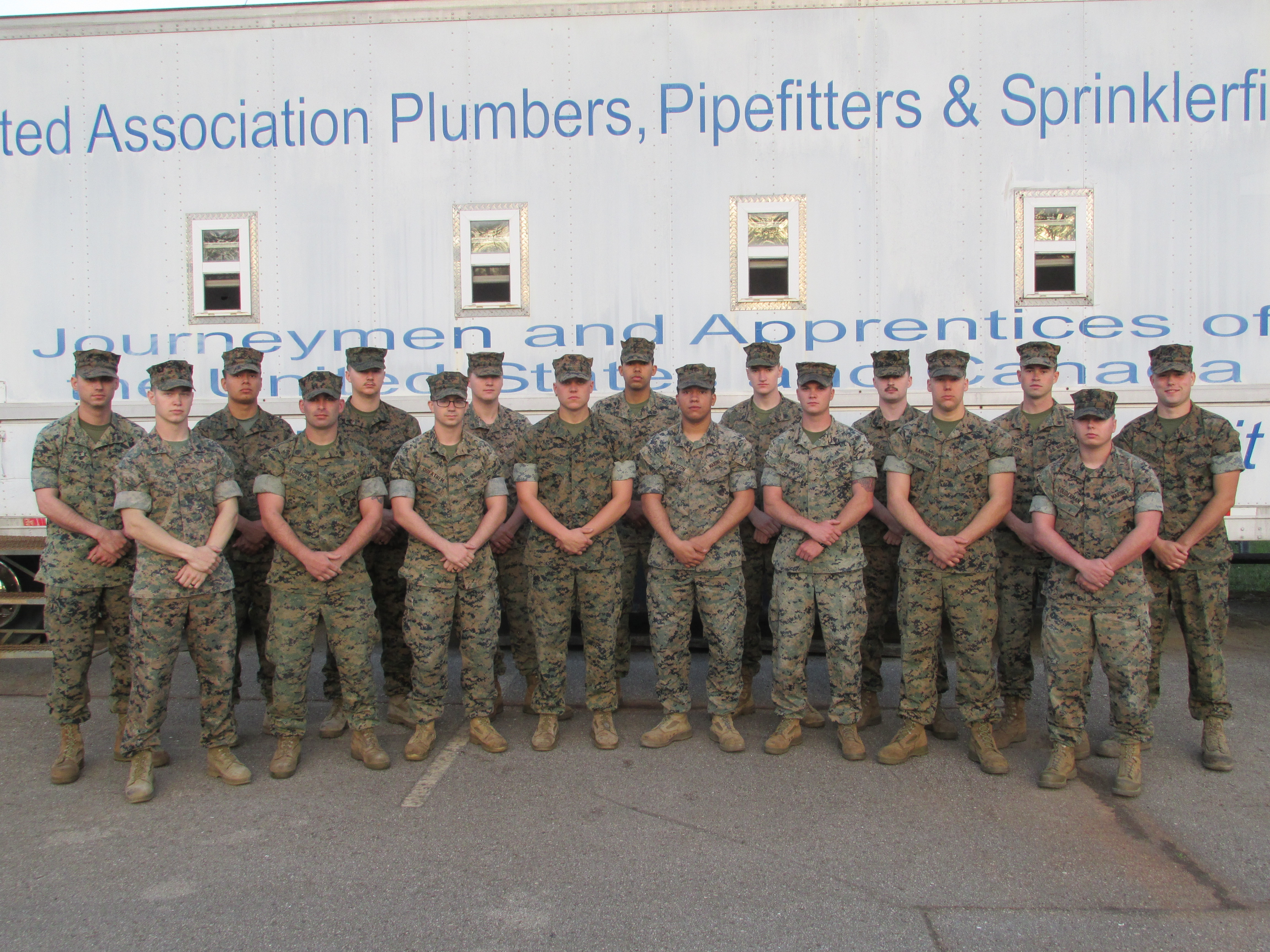 Members of UA VIP Camp Lejeune Welding Class 13.