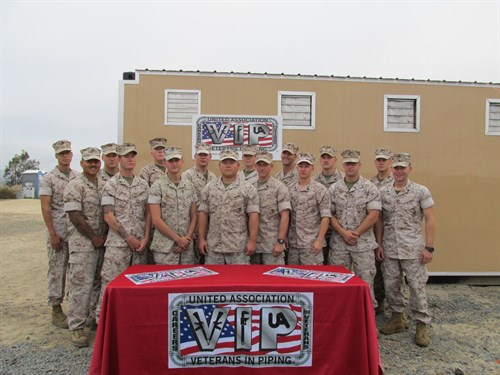A group picture of the the 20th weldig class at Camp Pendleton.