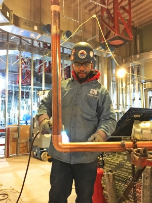 UA VIP graduate Alejandro Francis is now a member of Steamfitters Local 638.