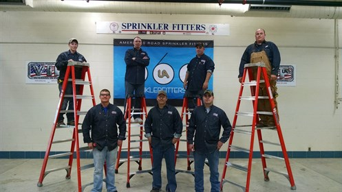 The second class of sprinkler fitters graduates from the Fort Sill VIP Program.