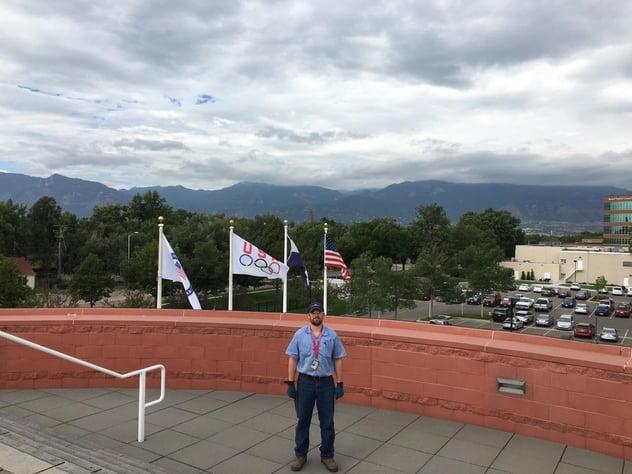 UA VIP graduate Kurt Watson at the U.S. Olympic Training Cener in Colorado
