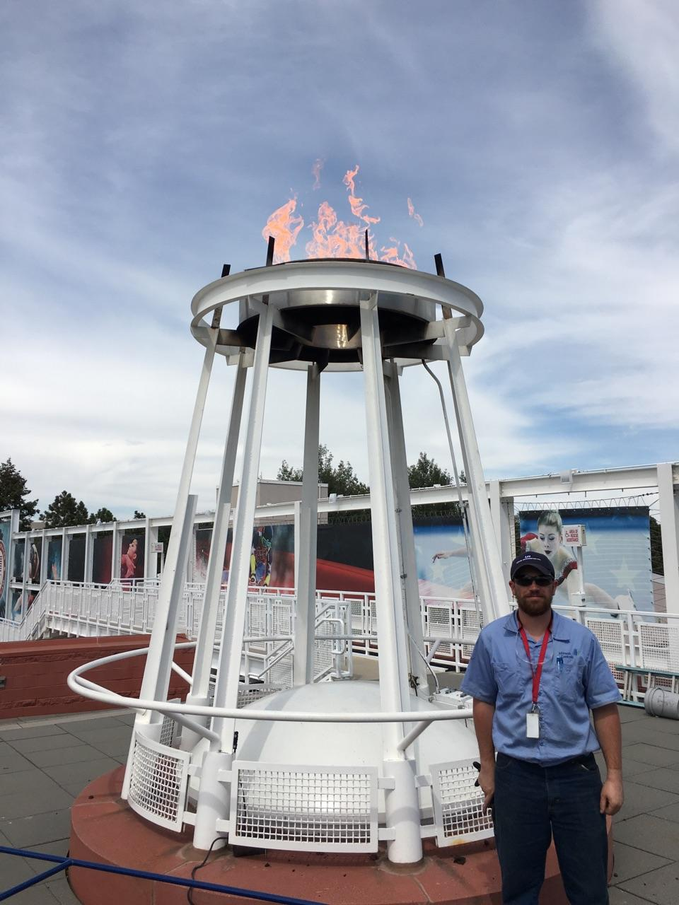 UA VIP graduate Kurt Watson worked on the Olympic caldron.