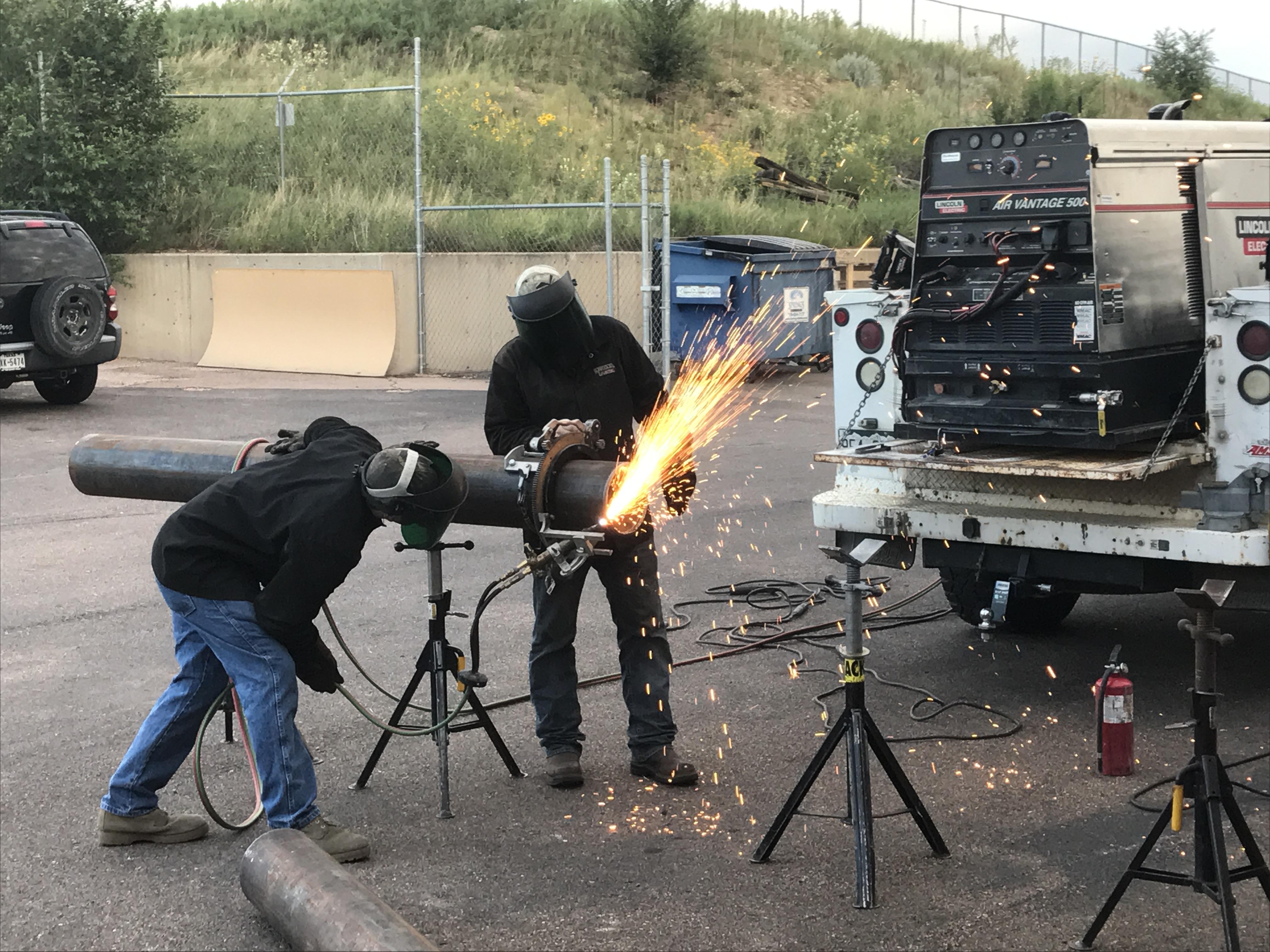 UA VIP Fort Carson Welding Class 10 gain hands-on experience welding