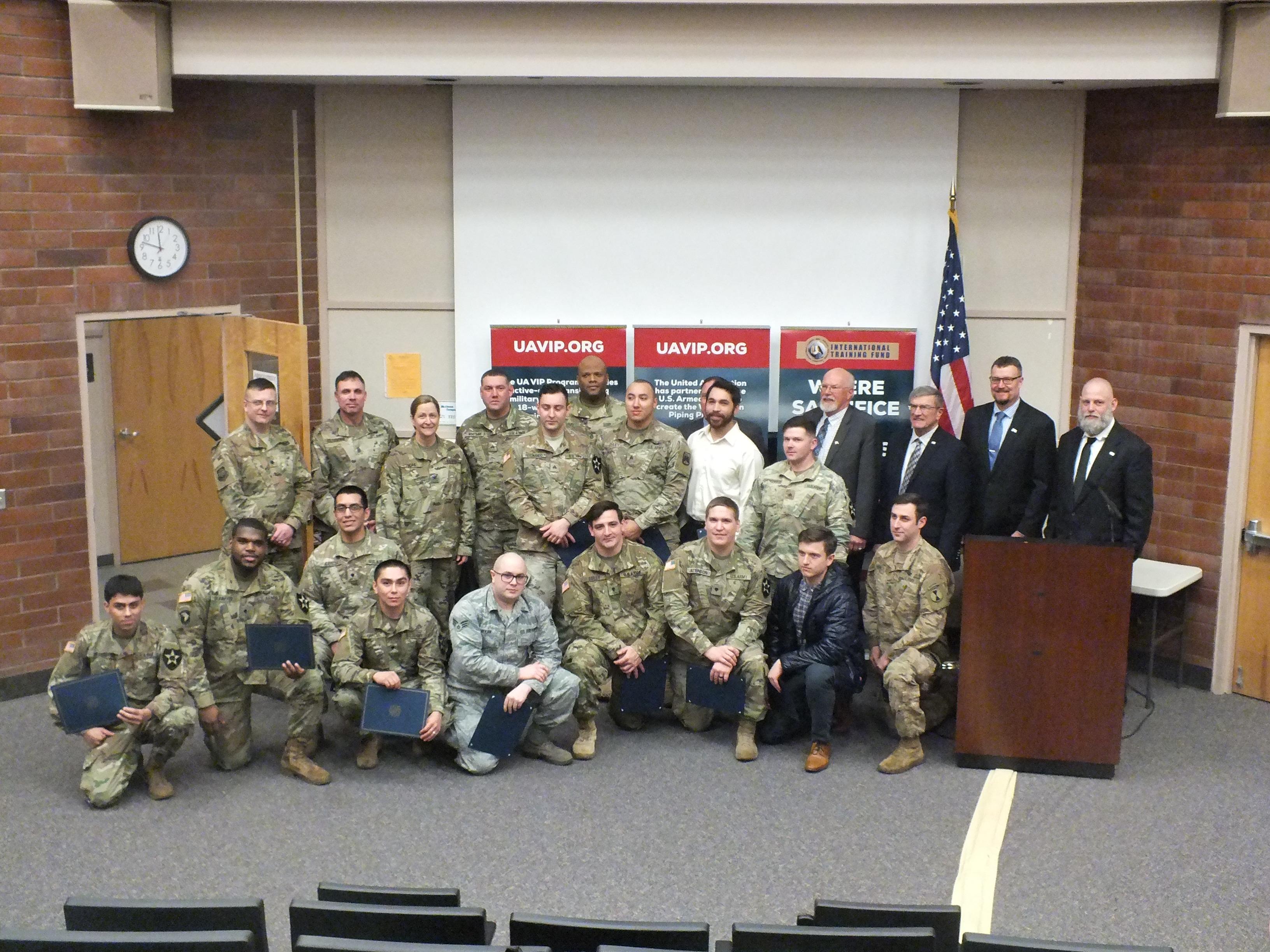 United Association Veterans in Piping JBLM VIP Graduation