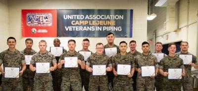 UA Veterans in Piping Camp Lejeune Welding Class 11 graduation