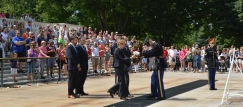 Union Veterans Council Mark Memorial Day at the Tomb of the Unknowns