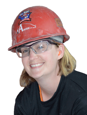 woman in hardhat