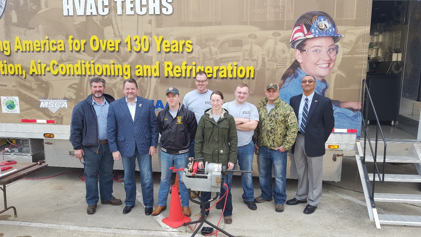 UA VIP HVACR current class receives visitor at Naval Station Norfolk